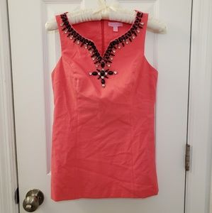 Lilly Pulitzer Tank Top Pink with Beads